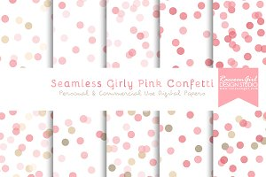 Seamless Girly Pink Confetti