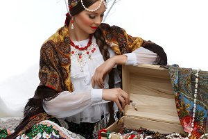 Beautiful Russian girl with hope chest
