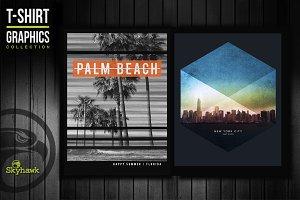 NYC & Florida  tee shirt graphics