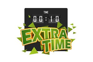 extratime football illustration