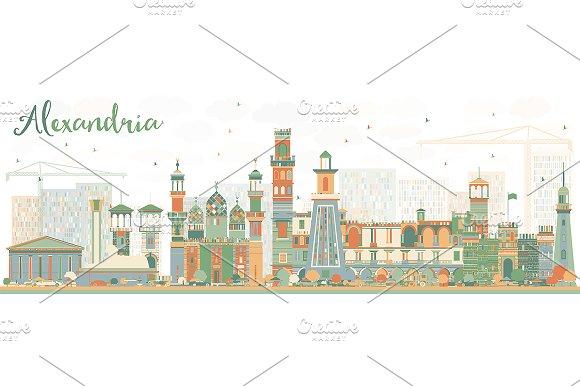 Abstract Alexandria Skyline
