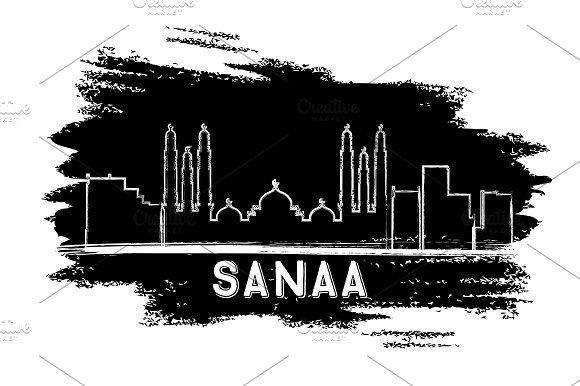 Sanaa Skyline Silhouette
