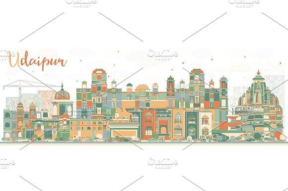 Abstract Udaipur Skyline