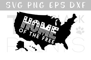 USA map SVG PNG EPS Home SVG DXF
