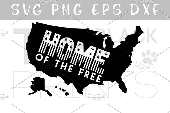 USA Map SVG PNG EPS Home SVG DXF Illustrations Creative Market - Usa map eps