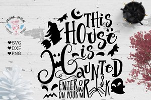 Haunted House Cut File