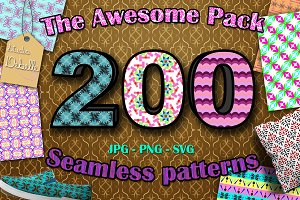 THE AWESOME PACK - 200 Patterns