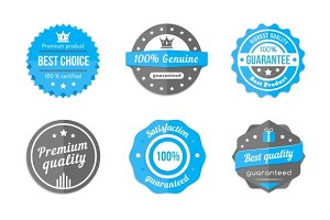 vector blue badges