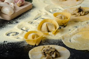 Making pasta from italian flour semolina