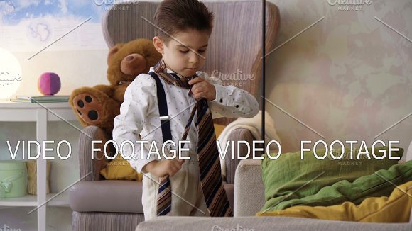Small Child Boy In White Shirt And Tie Images He Is Smart Boss Working With Papers And Calculator