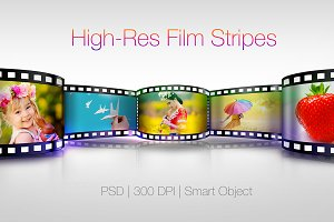 Film Tripes Photo Mockup Graphics