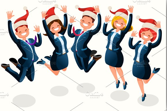 Office Christmas Party Illustration