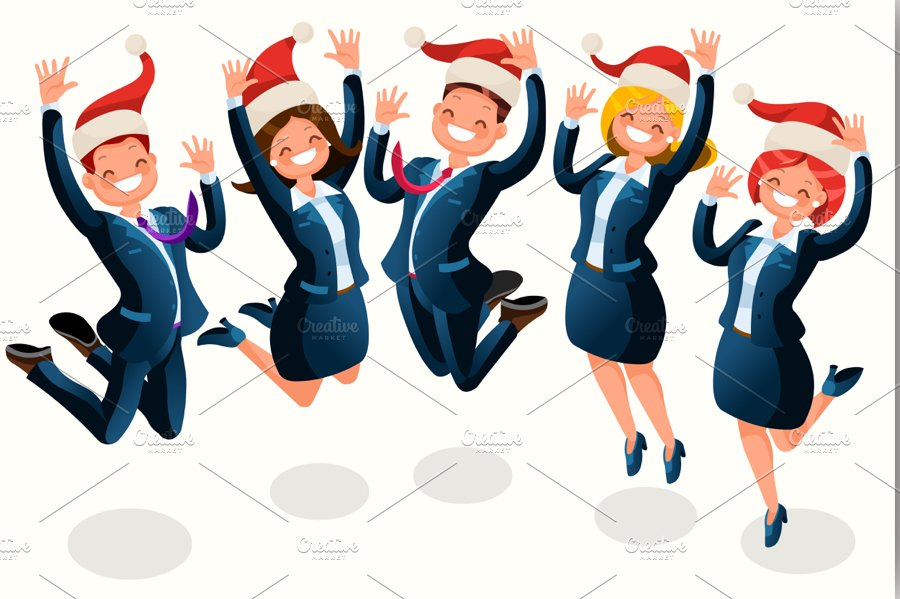Office Christmas Party Illustration ~ Illustrations ... (900 x 599 Pixel)