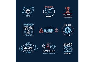 Nautical Emblem Badges or Labels