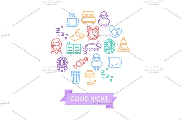 Sleeping And Insomnia Line Icon