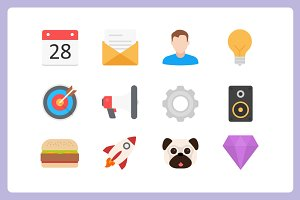 Filo: 450 Flat Vector Icons