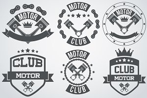 Set of Motor Labels