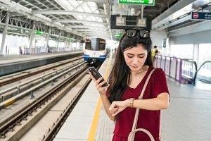 Asian woman passenger