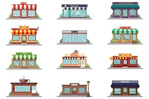 Shop facade icons