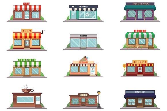 Shop Facade Icons