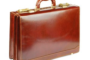 Ginger Leather Briefcase