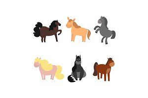 Cute Horses or Pony Set