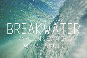Breakwater Triangle Sans Font