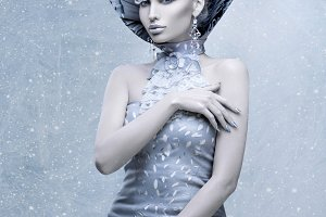 Portrait of winter queen