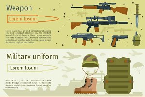 Military banners set vector