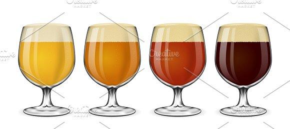 Beer Glass Vector Set