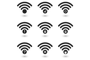 Creative WiFi Icons Set