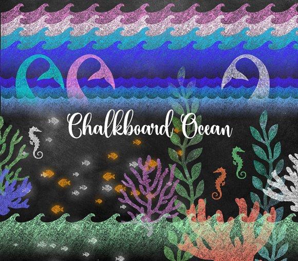 Chalkboard Ocean Clipart