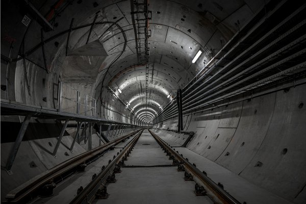 Industrial Stock Photos - Underground tunnel for the subway