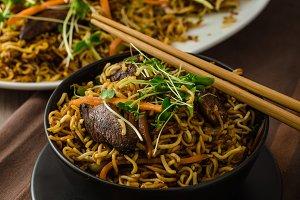 Stir Fry Singapore Noodles