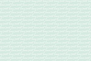 Lettered Home Sweet Home Pattern