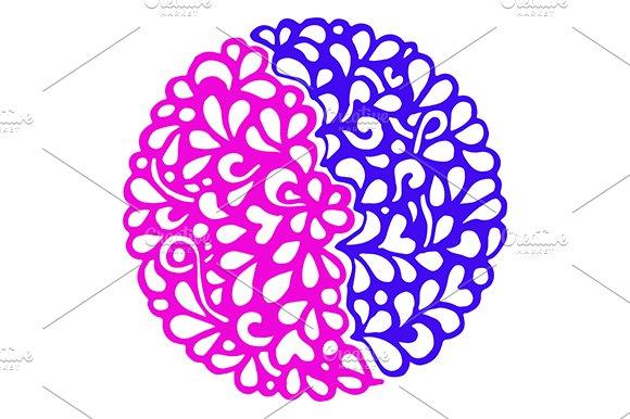 Doodle Colorful Mandala Art Vector