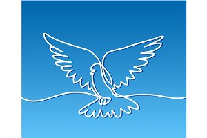 Flying pigeon logo