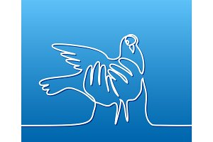 Pigeon in hands logo