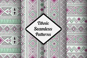 Vector Seamless Ethnic Patterns