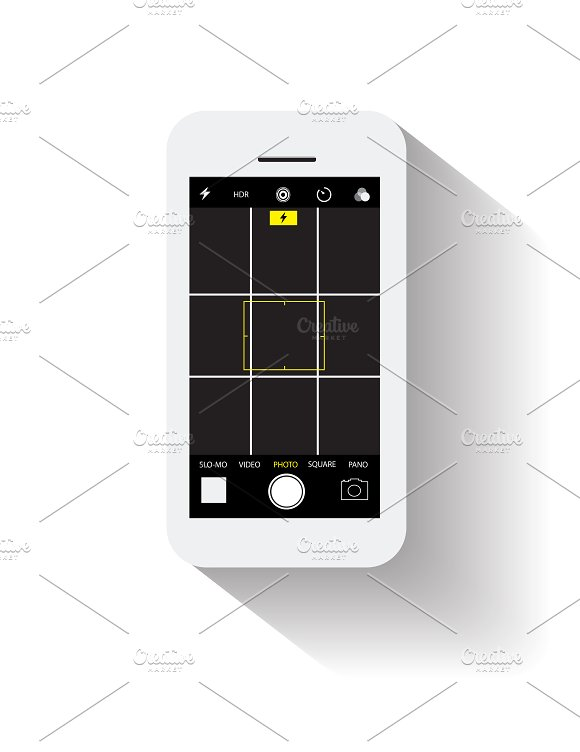 Smartphone Photo Option Vector