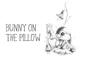 Bunny on the pillow