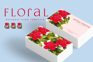 Floral Business Card | The Last Red