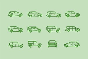 12 SUV & Land Rover Icons