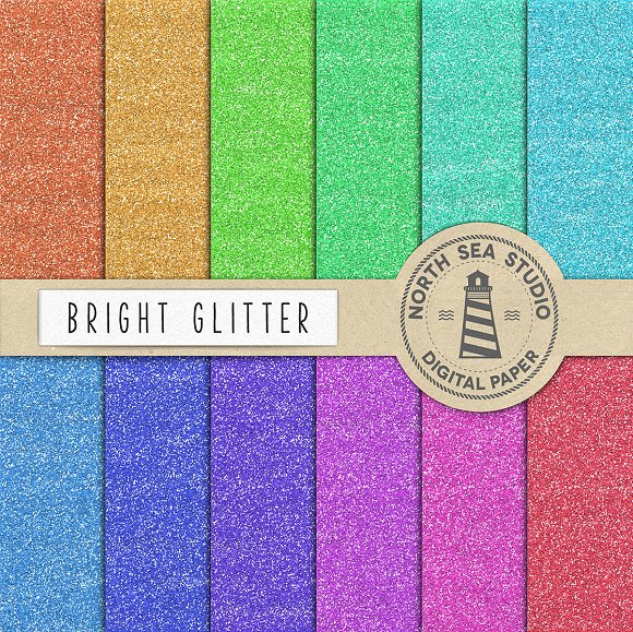 Bright  Glitter Texture