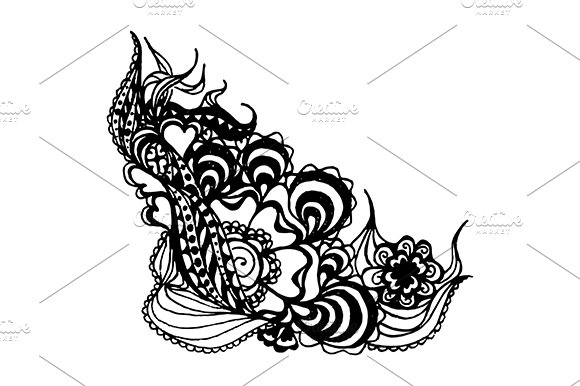 Abstract Doodle Sketch Art Vector