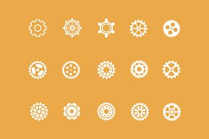 15 Cog Icons