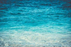 Sea water close up