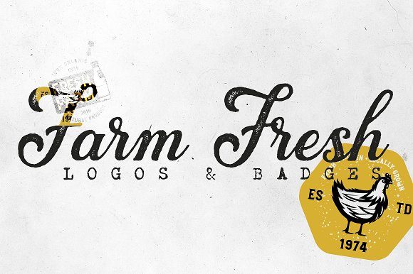 20 FARM FRESH Logos Badges