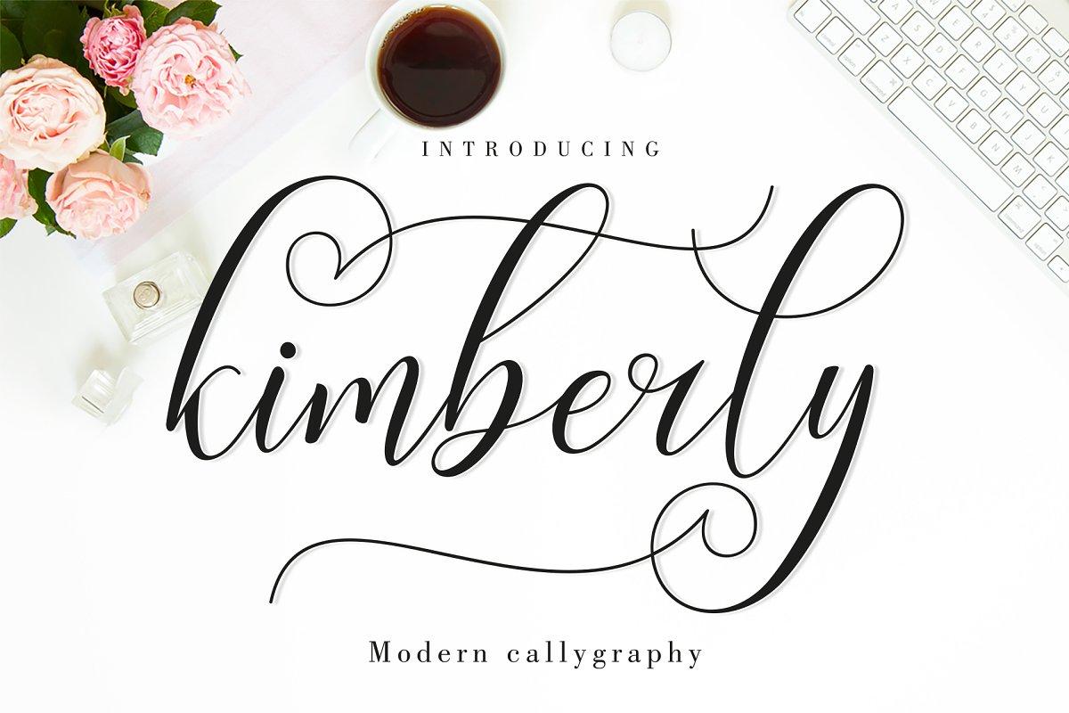 Kimberly Script | 3 Font ~ Script Fonts ~ Creative Market