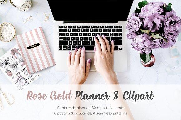 50%Off Rose Gold Planner Fashion Set